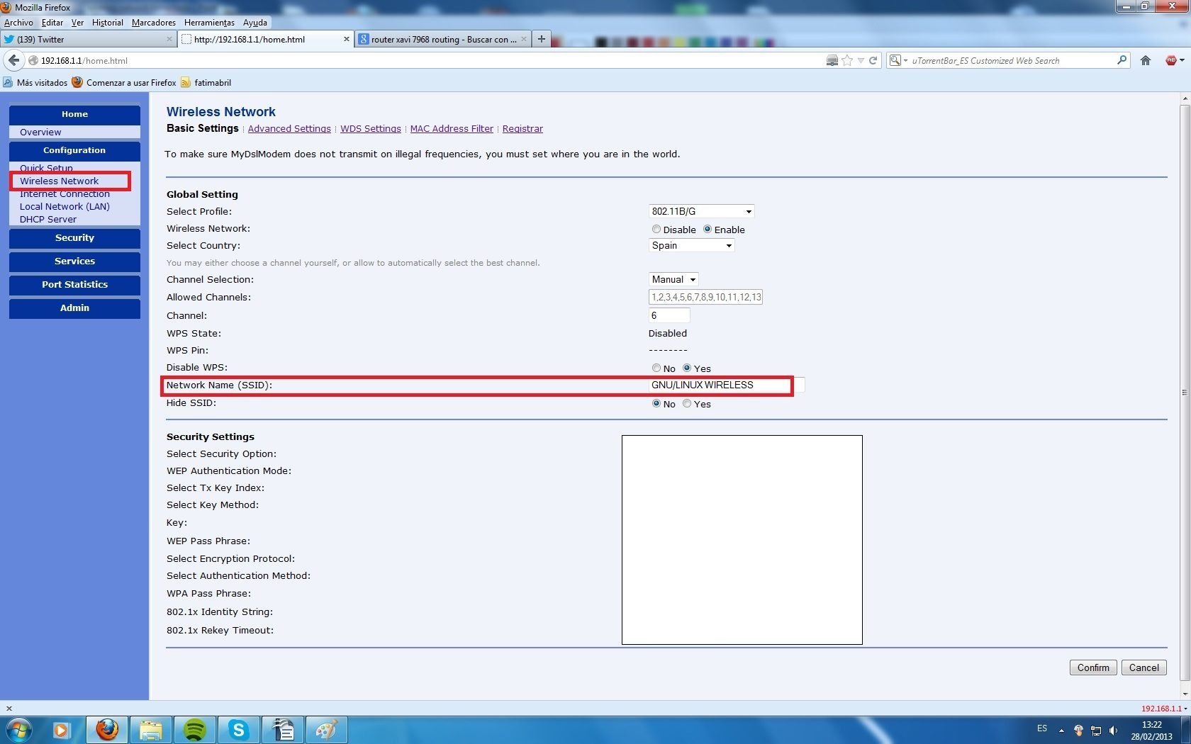 how to set wifi netwrk name in router